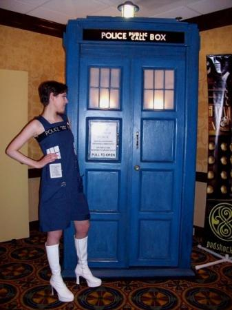 Tardis from Doctor Who worn by Hitori