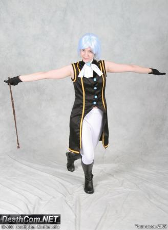 Franziska von Karma from Ace Attorney Investigations: Miles Edgeworth worn by Countess Lenore