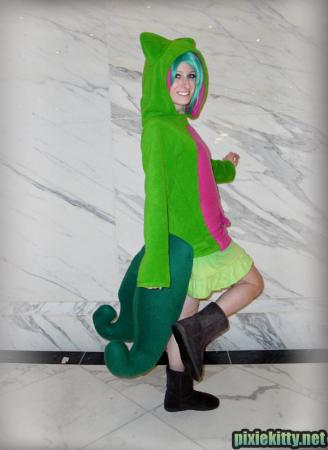 Treecko from Pokemon worn by Pixie Kitty