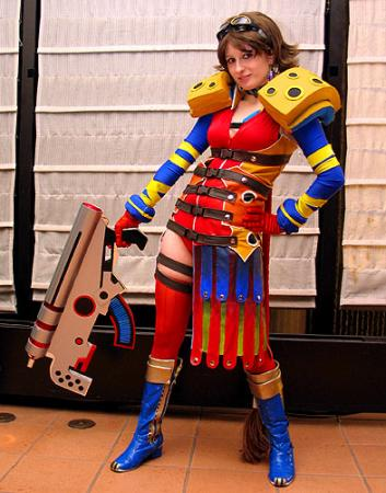 Yuna from Final Fantasy X-2 worn by Pixie Kitty