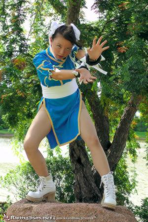 Chun Li from Street Fighter II worn by Mitylene