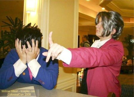 Phoenix Wright from Phoenix Wright: Ace Attorney worn by Sugar