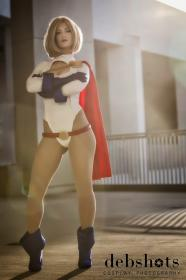 Power Girl from DC Comics worn by RuffleButt