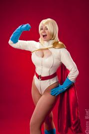 Power Girl from DC Comics worn by Chiko