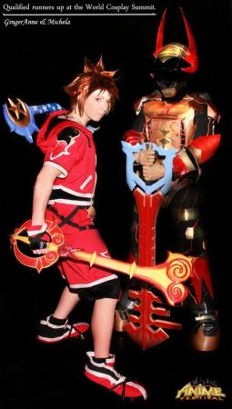 Sora from Kingdom Hearts 2 worn by Michela