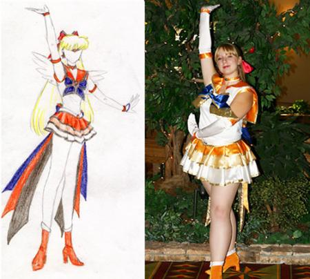 Sailor Venus from Sailor Moon worn by Kimiko