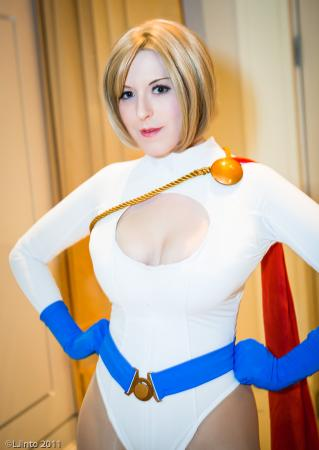 Power Girl from DC Comics worn by Ambrosia