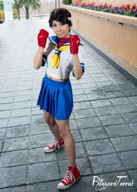 Sakura Kasugano from Street Fighter II by CherryTeaGirl