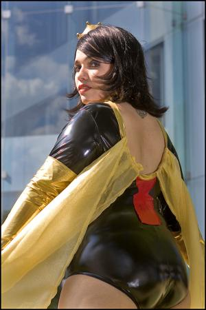 Dr. Mrs. The Monarch from Venture Bros. worn by Adrienne Orpheus