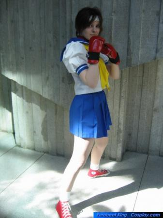 Sakura Kasugano from Street Fighter Alpha worn by Lizzie