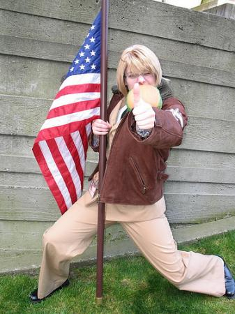 America / Alfred F. Jones from Axis Powers Hetalia (Worn by Lizzie)