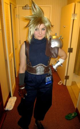 Cloud Strife from Final Fantasy VII worn by Lizzie