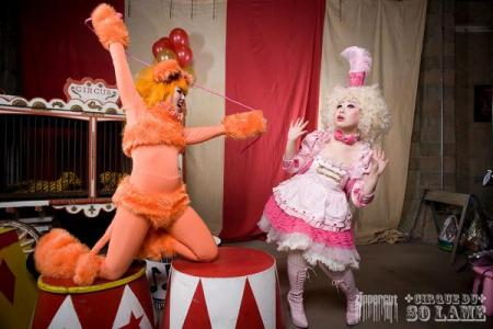Pink Lion Tamer Clown from Original Design worn by Die