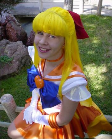 Super Sailor Venus from Sailor Moon Super S worn by Lynleigh Love Meeko