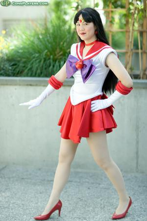 Sailor Mars from Sailor Moon worn by Mandy Mitchell