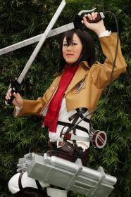 Mikasa Ackerman from Attack on Titan worn by Mandy Mitchell