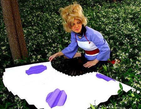 Temari from Naruto worn by Mandy Mitchell