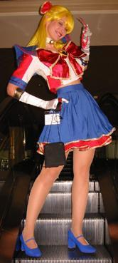 Sailor V from Sailor Moon Seramyu Musicals worn by Maryssa