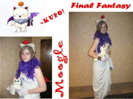 Moogle from Final Fantasy worn by Yuki