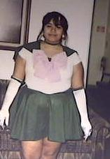 Sailor Jupiter from Sailor Moon worn by Lady Hoshi