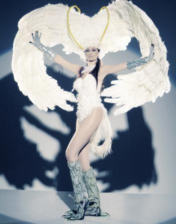 Demon Bird Silene from Devilman worn by Giorgia