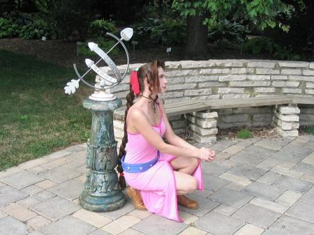 Aeris / Aerith Gainsborough from Kingdom Hearts worn by Cosplay Kitten