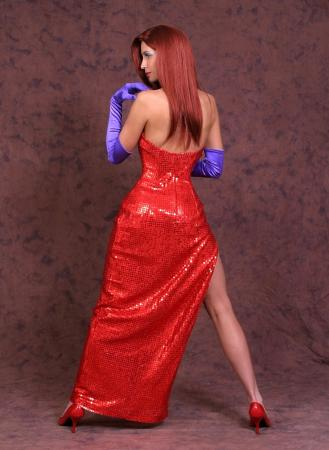 Jessica Rabbit from Who Framed Roger Rabbit? worn by Cosplay Kitten