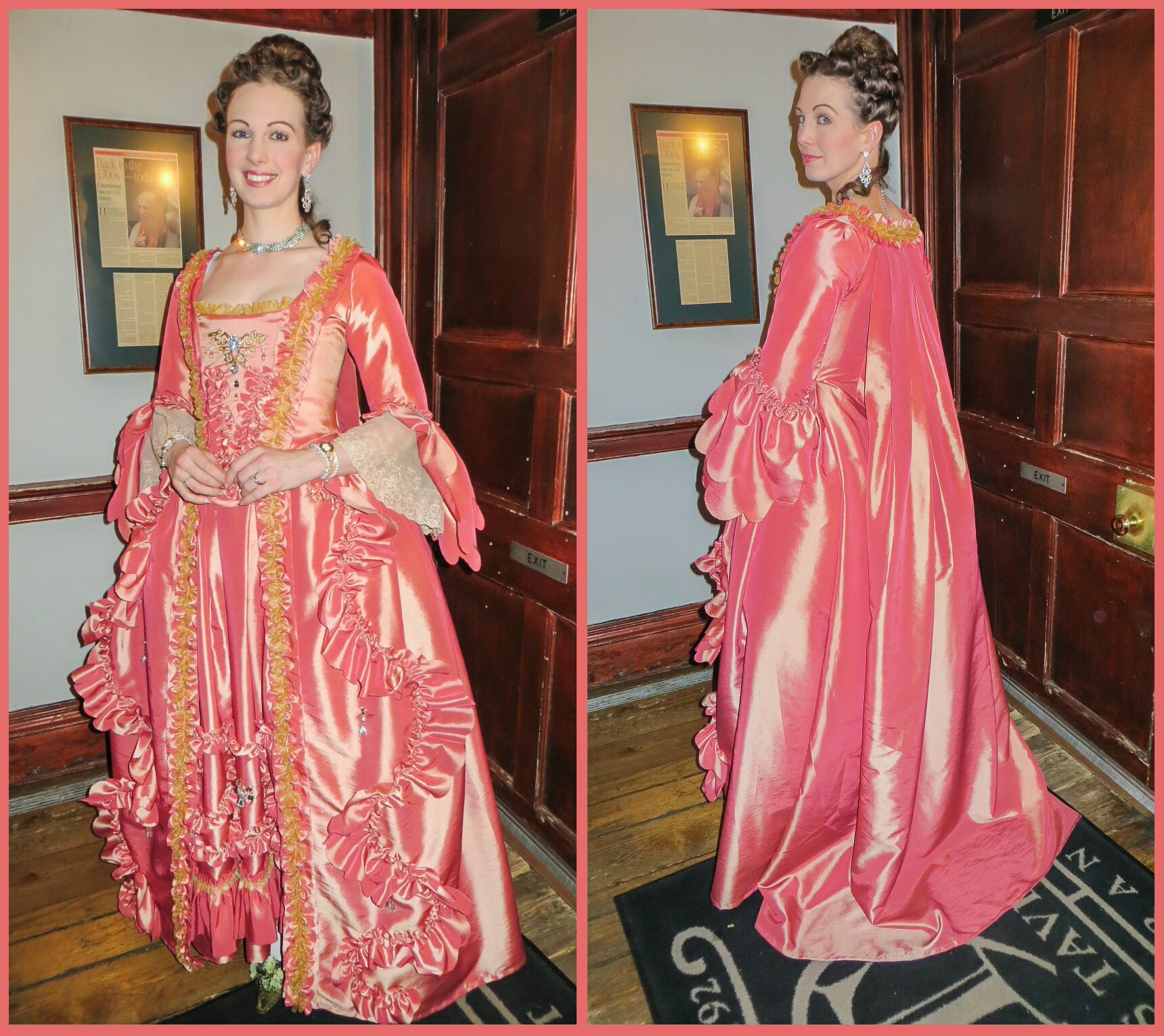 Robe A La Francaise: Robe A La Francaise From Original: Historical