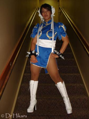 Chun Li from Street Fighter II worn by Dr Hikaru
