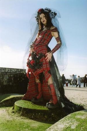 Punk Rock EGL Wedding Dress from Original: Gothic Lolita / EGL / EGA worn by Mistress Mel