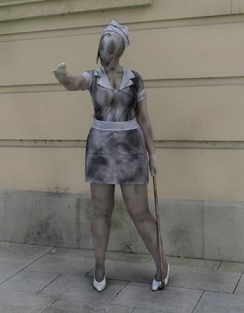 Bubble Head Nurse from Silent Hill 2 worn by Alessa