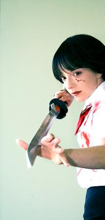 Saya Otonashi from BLOOD+ worn by Nyanko-chan