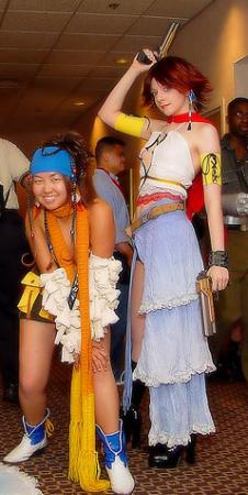 Yuna from Final Fantasy X-2 worn by Nyanko-chan
