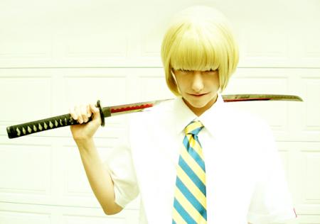 Hirako Shinji from Bleach worn by Nyanko-chan