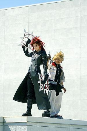 Axel from Kingdom Hearts 2 worn by Nyanko-chan