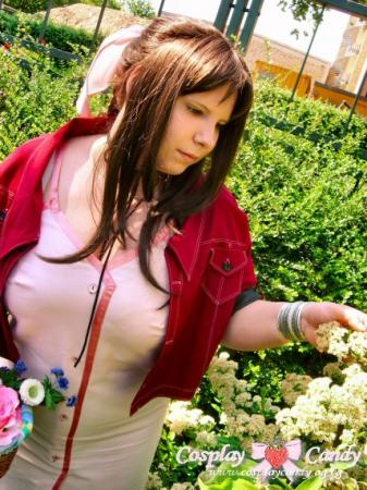 Aeris / Aerith Gainsborough from Final Fantasy VII: Advent Children worn by Kasumi