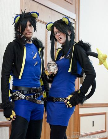 Luxray from Pokemon worn by Foaming Owl
