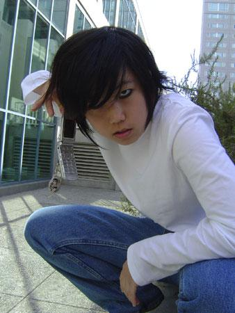 L / Ryuuzaki from Death Note worn by pikacello