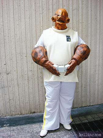 Admiral Ackbar from Star Wars Episode 6: Return of the Jedi worn by Ash
