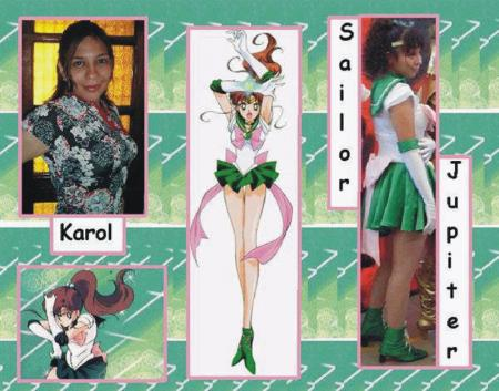 Sailor Jupiter from Sailor Moon worn by Karol Neko Chan