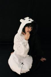 Monobear from Dangan Ronpa worn by feytaline