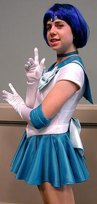 Sailor Mercury from Sailor Moon worn by Taru-chan