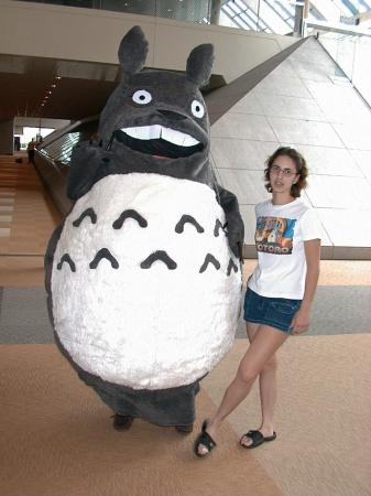 Totoro from My Neighbor Totoro worn by Tikki