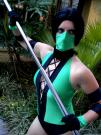 Jade from Mortal Kombat III worn by Fallyn Angel