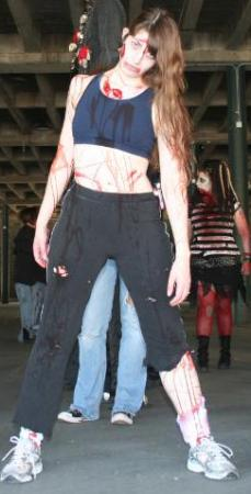 Athletic Zombie Girl from Original:  Science Fiction worn by TR Rose