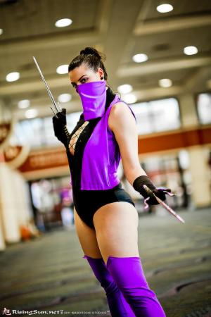 Mileena from Mortal Kombat worn by Hooded Woman