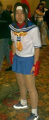Sakura Kasugano from Street Fighter Alpha worn by Carolina