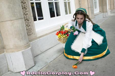 Flower Girl / Aeris / Aerith Gainsborough from Final Fantasy Tactics worn by Adella