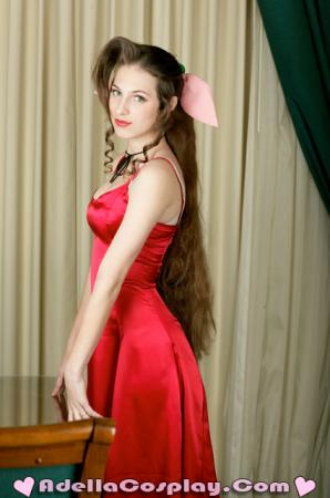 Aeris / Aerith Gainsborough from Final Fantasy VII worn by Adella
