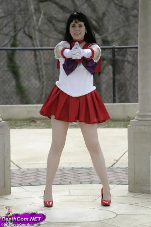 Sailor Mars from Sailor Moon worn by Sakura